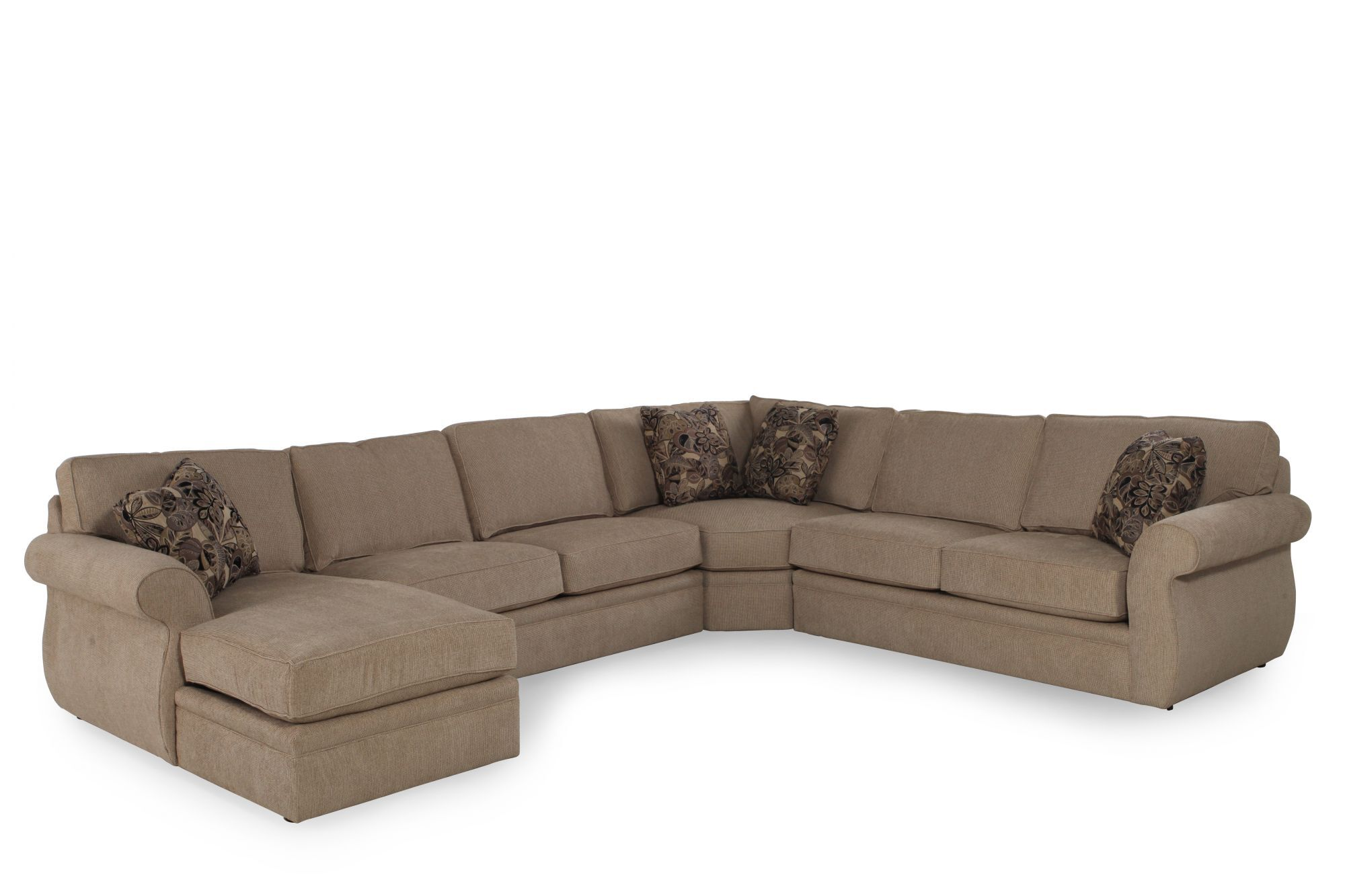Broyhill Veronica Sand Sectional  sc 1 st  Mathis Brothers : broyhill sectionals - Sectionals, Sofas & Couches