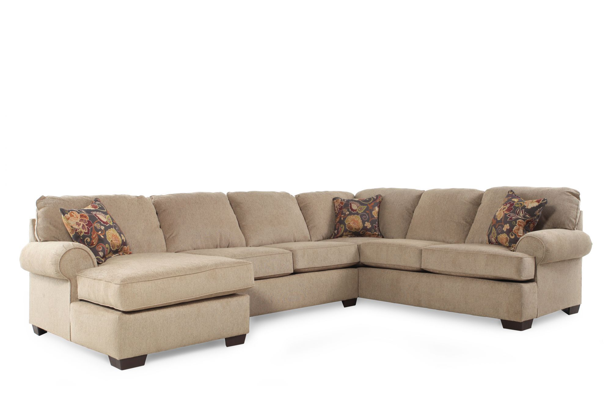 Casual 135 Sectional In Medium Brown Mathis Brothers Furniture. Lane  Furniture