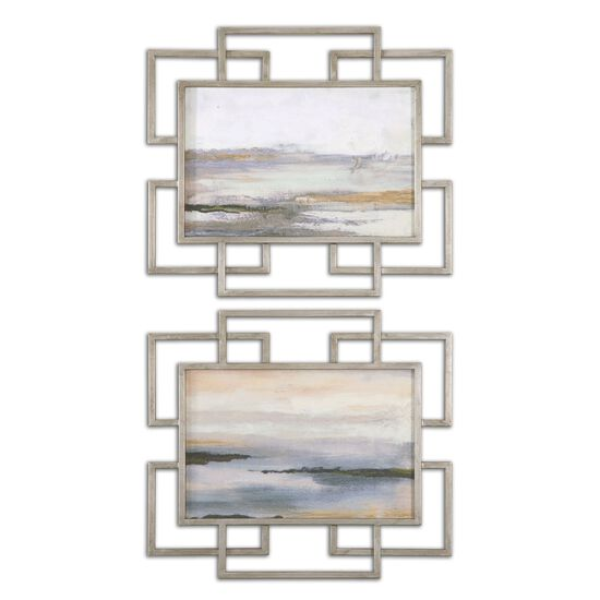 Two-Piece Framed Abstract Wall Art Set