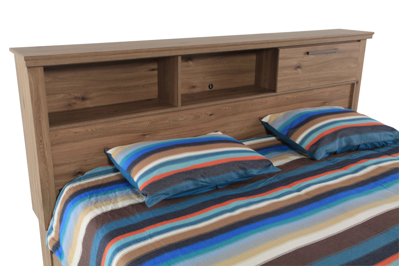 Contemporary Youth Storage Bed With Bookcase In Dark