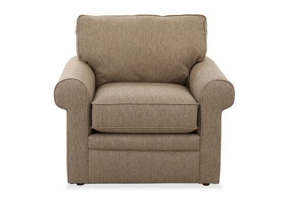 """Casual 39"""" Rolled Arm Chair in Wheat"""