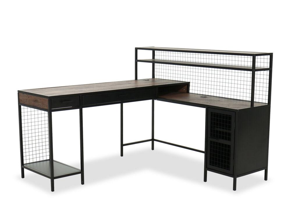 60 Modern Office Desk In Vintage Oak Mathis Brothers Furniture