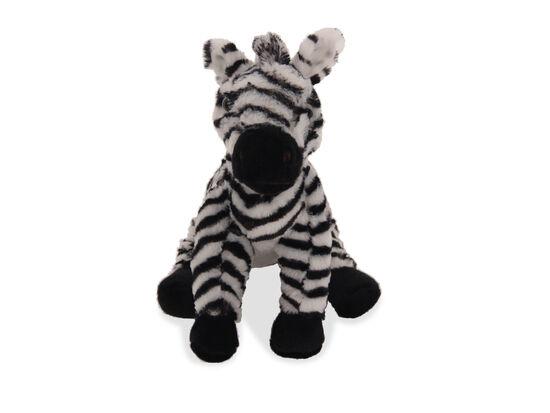"10"" Plush Sitting Zebra"