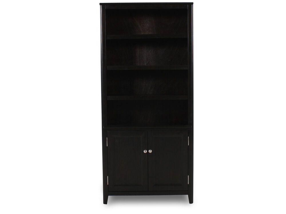 Two-Door Contemporary Bookcase in Black