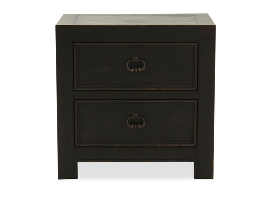 """28"""" Traditional Two-Drawer Nightstand in Kettle Black"""