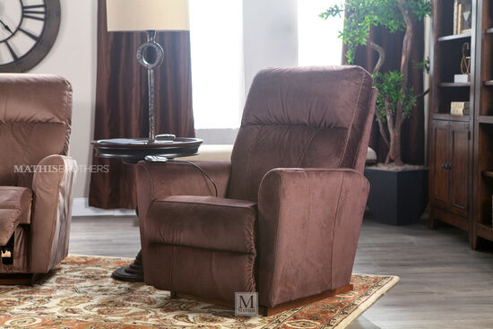 "Massage and Heat Microfiber 33"" Rocker Recliner in Putty Brown"