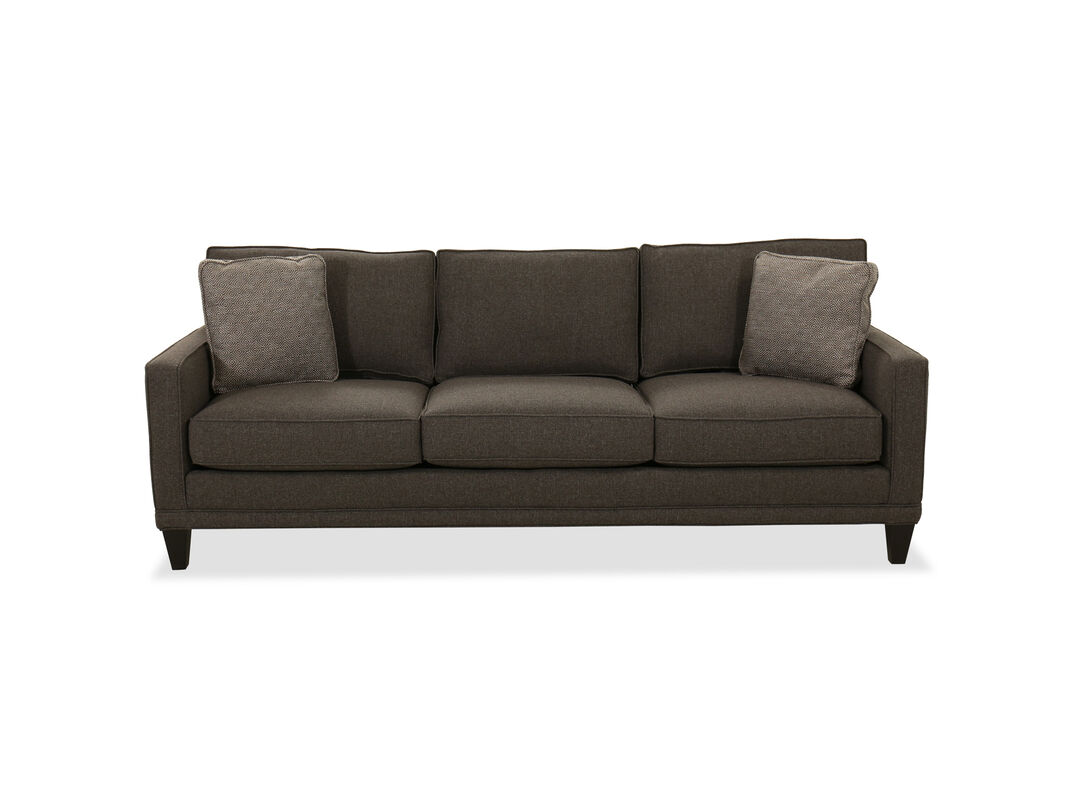 """5"""" Contemporary Sofa in Charcoal Gray  Mathis Brothers Furniture"""
