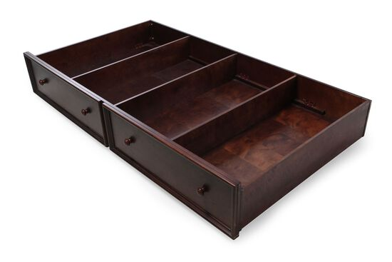 Casual Youth Trundle Storage Unit in Chocolate
