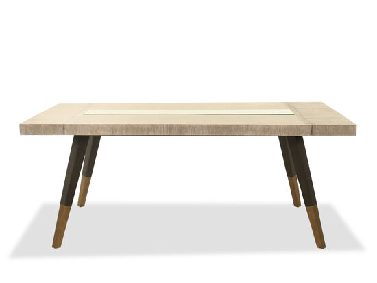 """Contemporary 76"""" to 100"""" Rectangular Dining Table in Gray"""