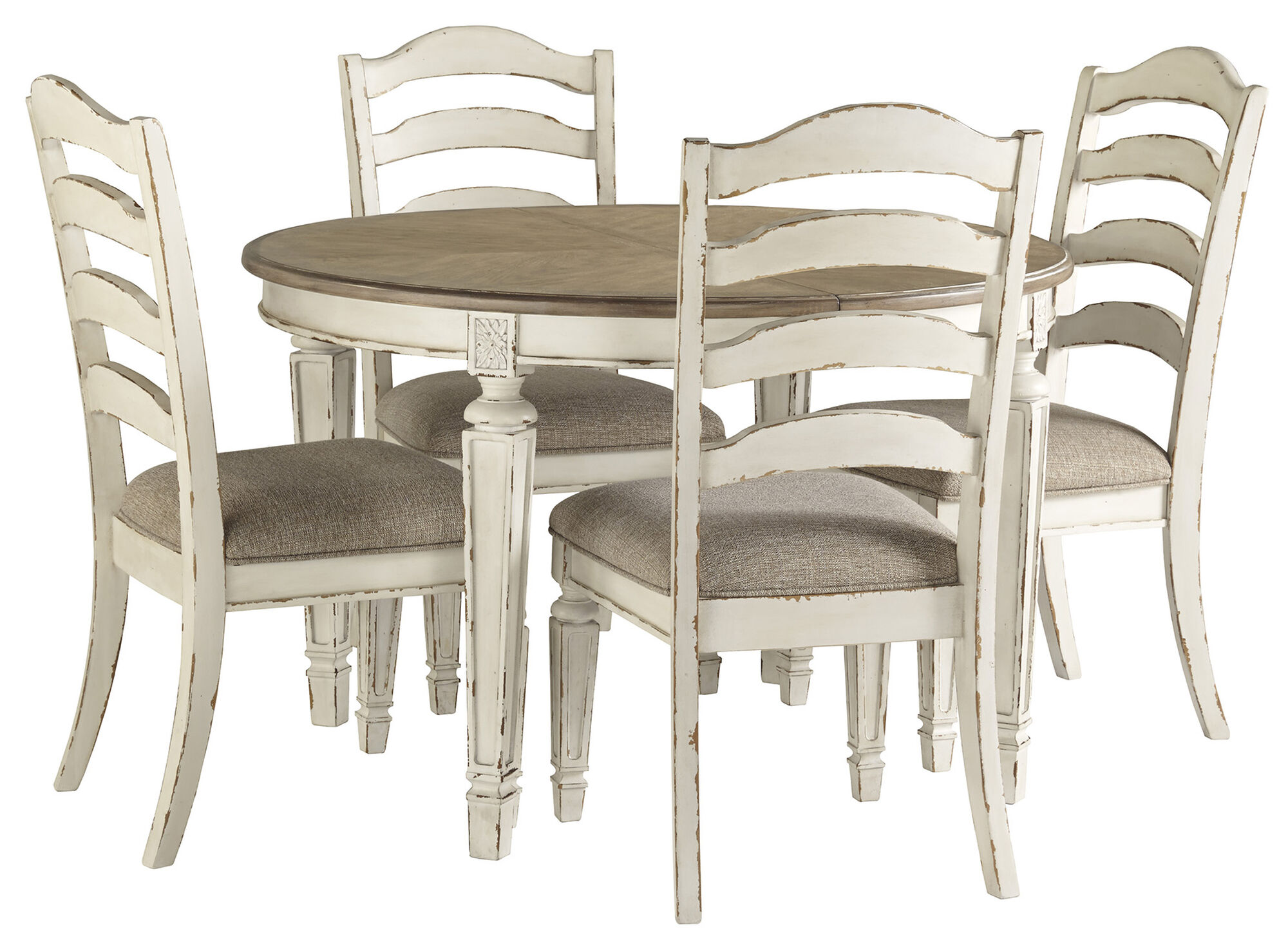 Realyn Dining Table And 4 Chair Set Mathis Brothers Furniture