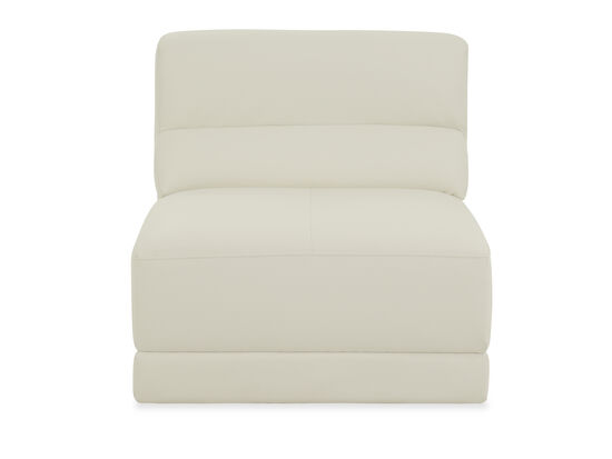 "Contemporary 31.5"" Armless Chair in Ivory"