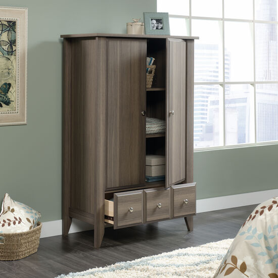 "54"" Contemporary Armoire in Diamond Ash"