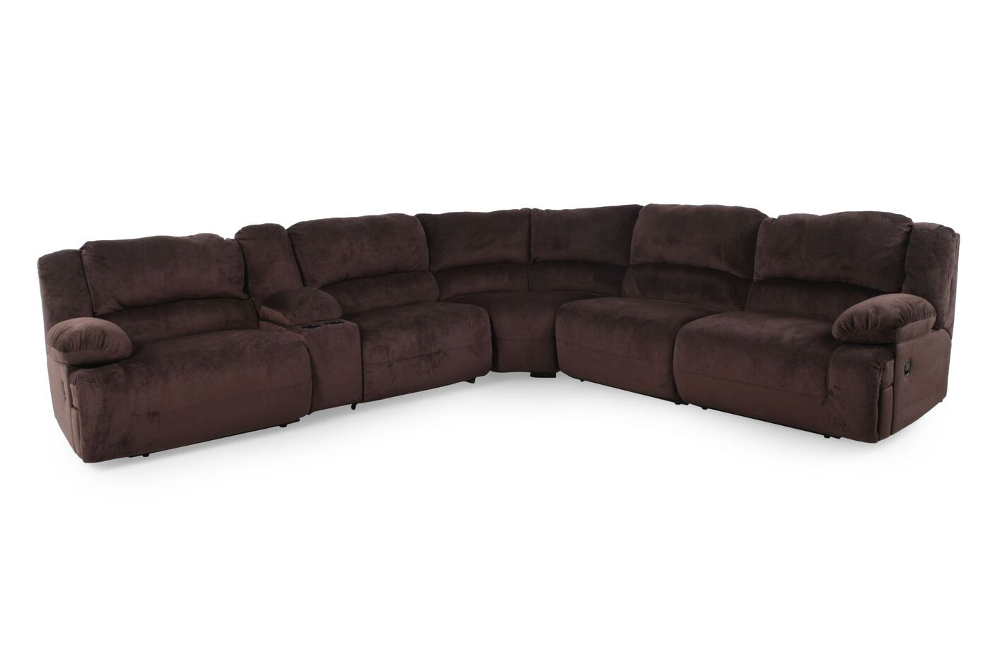 Microfiber 131 5 sectional in chocolate