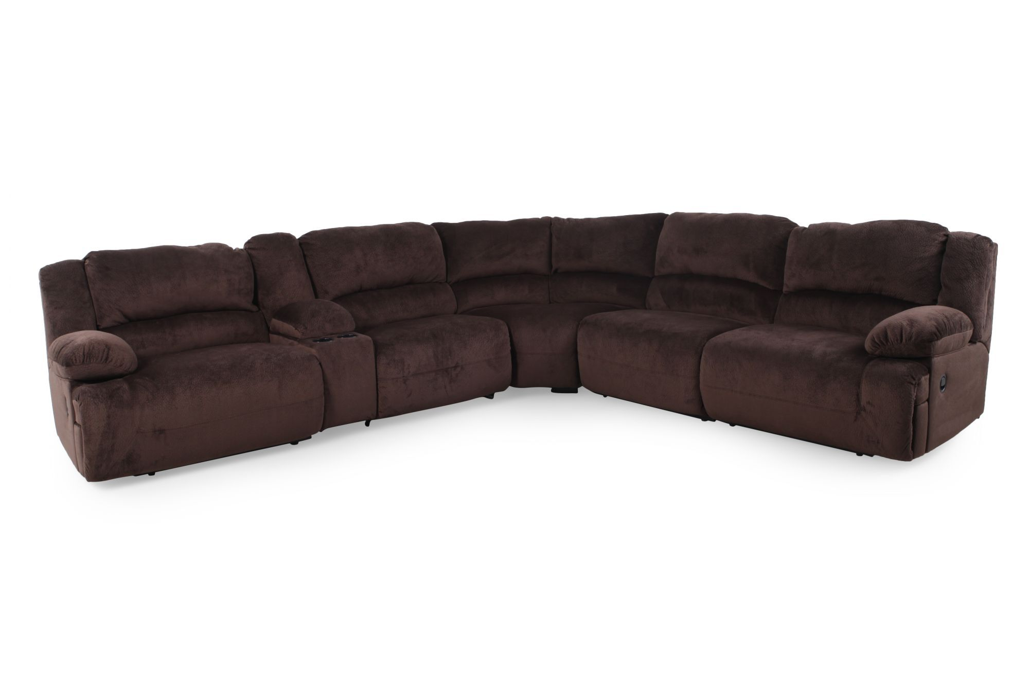 Microfiber 131.5u0026quot; Sectional In Chocolate ...