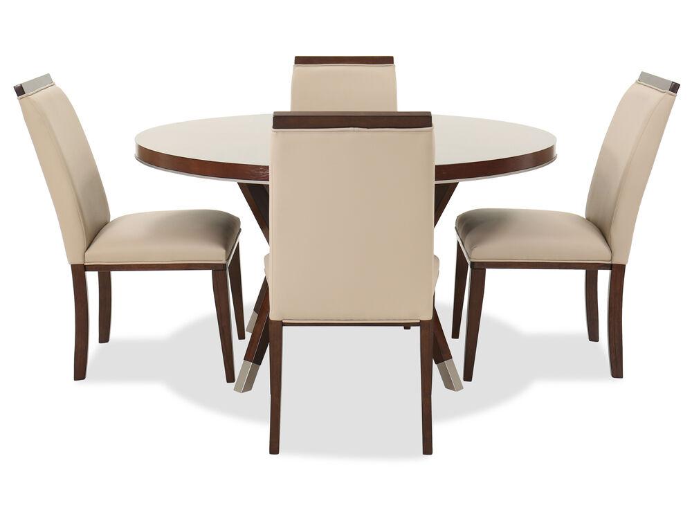 Five-Piece Modern Dining Set in Medium Walnut | Mathis ...