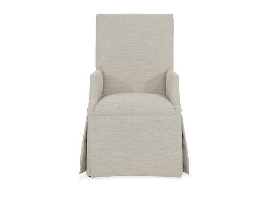 "Upholstered 25"" Skirted Arm Chairin Beige"