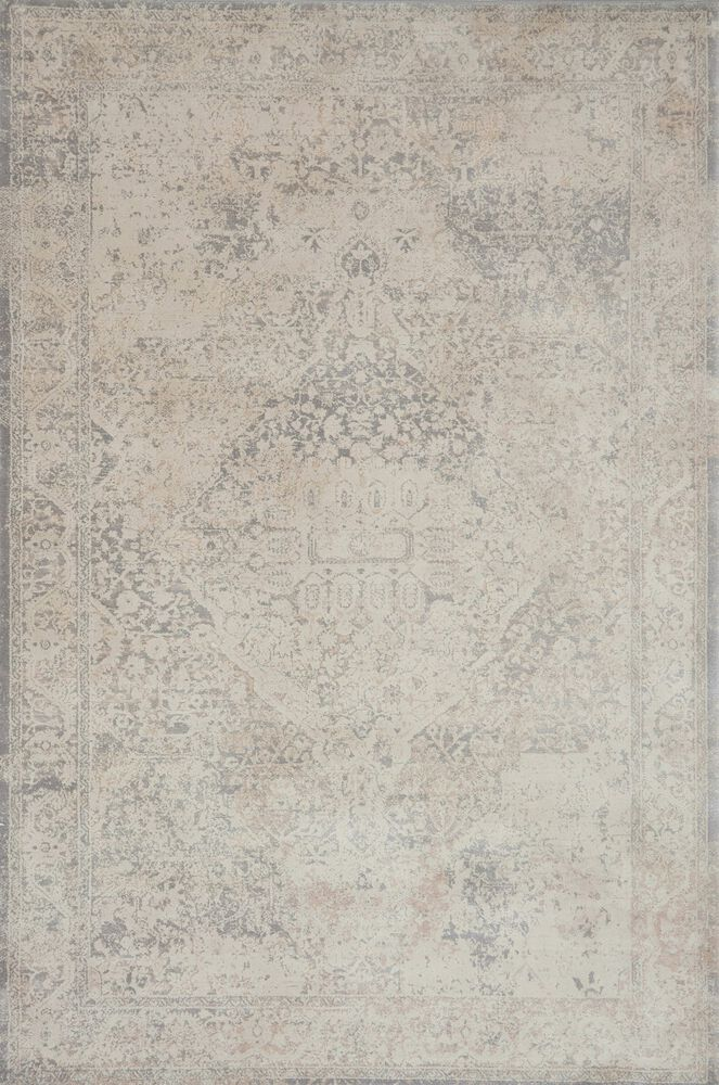 Transitional Rug in Ivory/Ivory