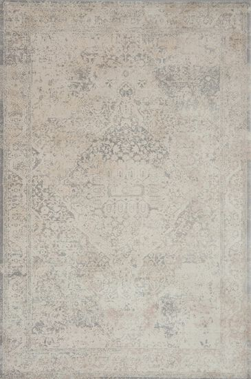 "Transitional 2'-7""x8'-0"" Rug in Ivory/Ivory"