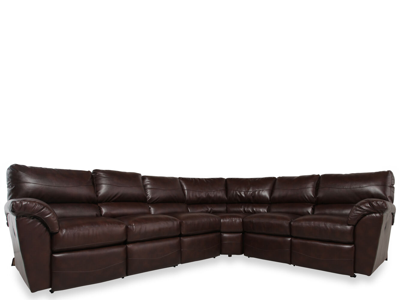 Three piece contemporary 103quot dual recliner sectional in for Sectional sofa 103