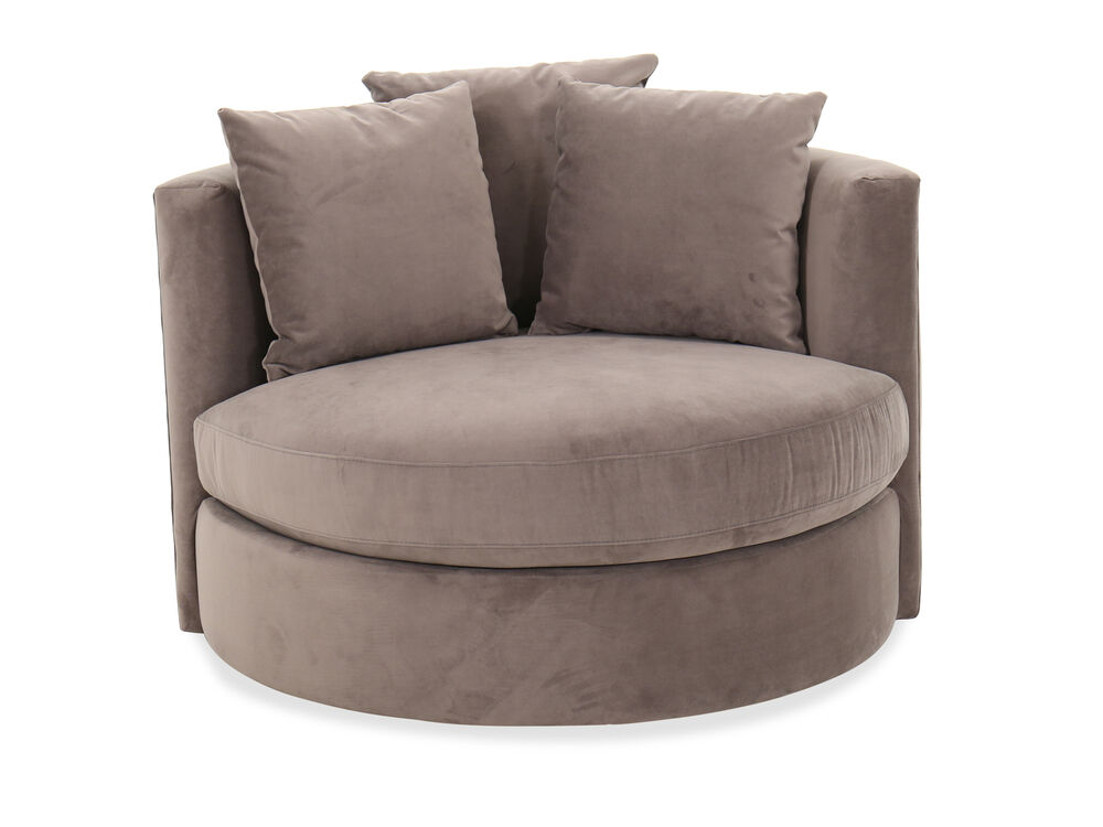 Contemporary 49 Roundabout Swivel Chair In Vintage Gray