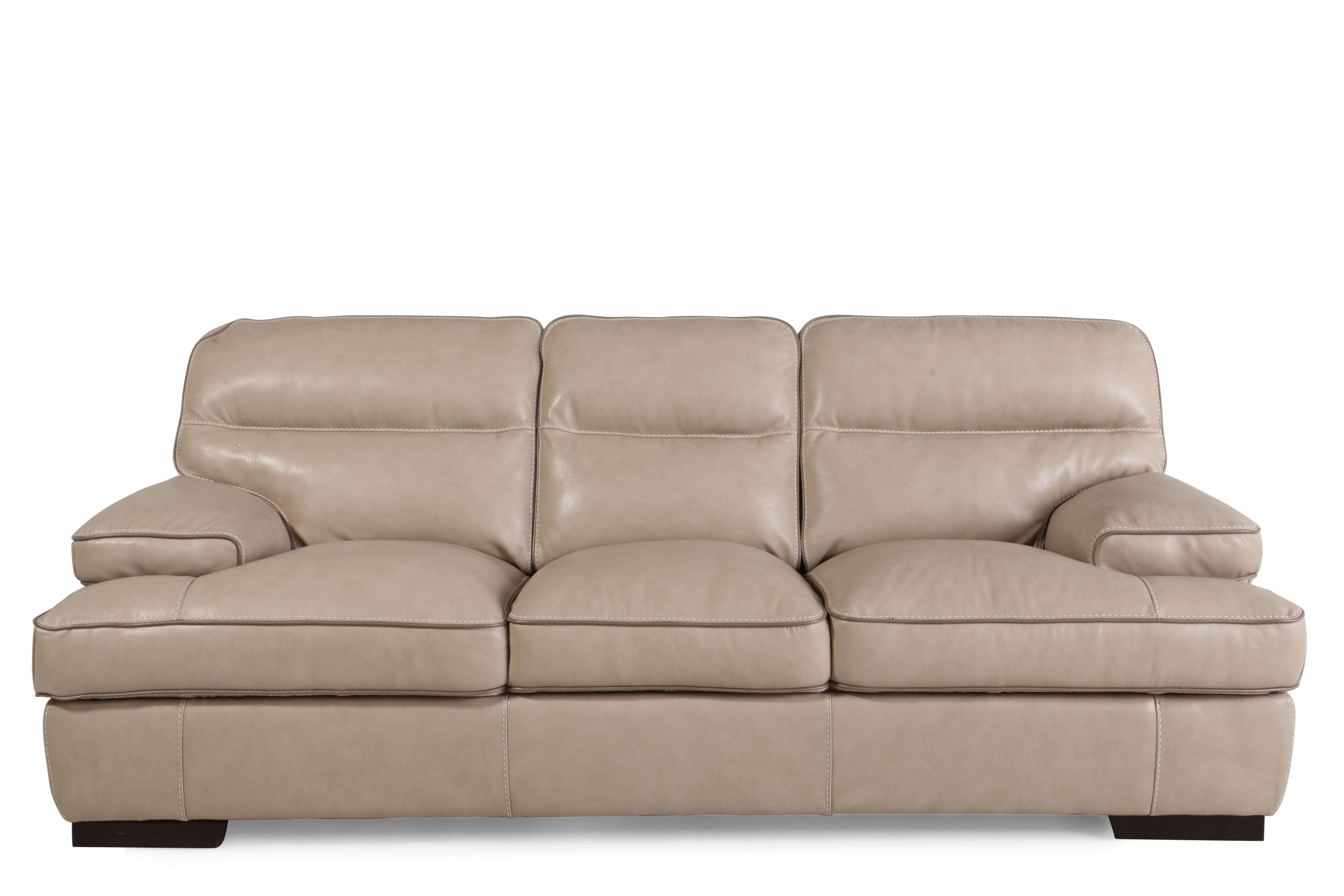Contemporary Leather 91u0026quot; Sofa ...
