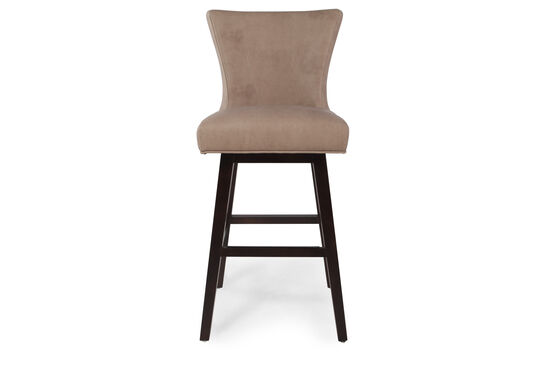 Armless Swivel Bar Stool in Saddle