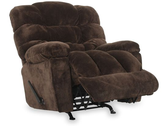 """Casual 43"""" Wall Saver Recliner with Storage Arm in Chocolate"""