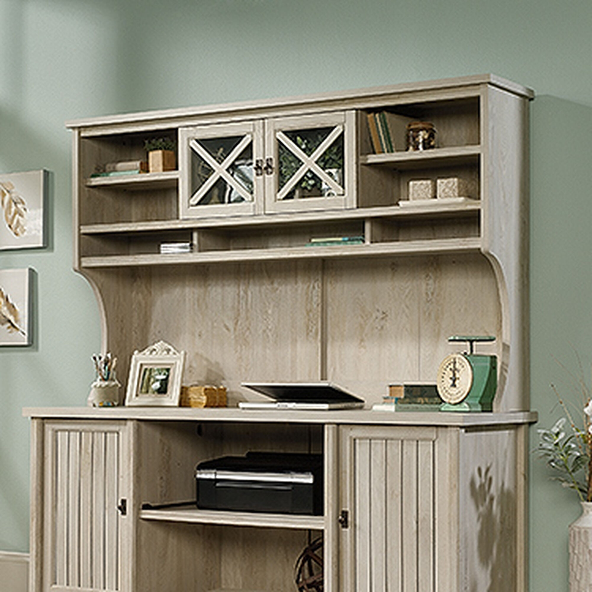 64 Contemporary Large Hutch In Chalked Chestnut