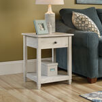 Square Solid Wood Side Table in Chalked Chestnut