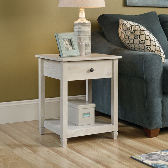 Square Solid Wood Side Tablein Chalked Chestnut