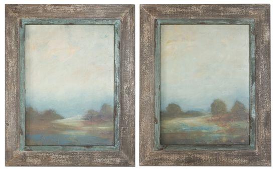 Two-Piece Framed Landscape Wall Art Set