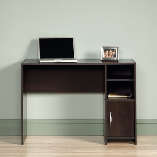 "40.5"" Transitional Open-Shelf Desk in Cinnamon Cherry"