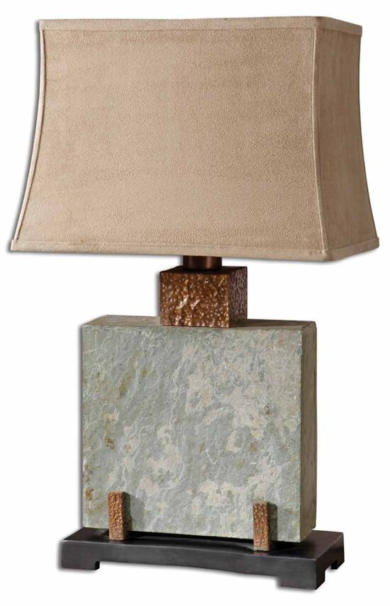 Square Slate Table Lamp