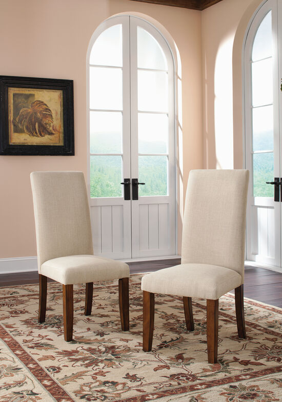 Two-Piece Contemporary 41'' Dining Chair Set in Beige