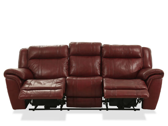 Power Reclining 89 Quot Sofa In Chili Pepper Mathis Brothers