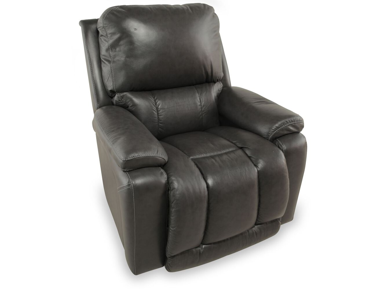 black leather recliner armchair traditional leather 37 5 quot power recliner in gray mathis 11223 | LZB P10^047530 LG104558 1
