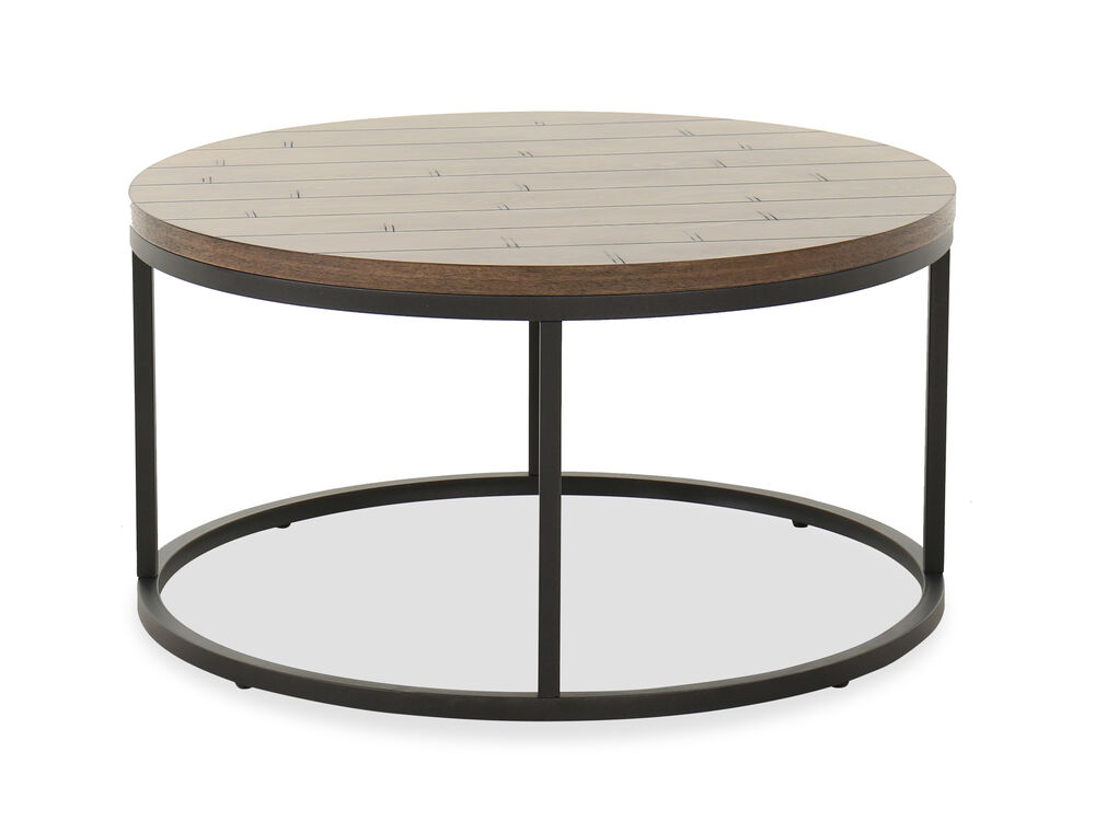 Transitional Cocktail Table in Wheat