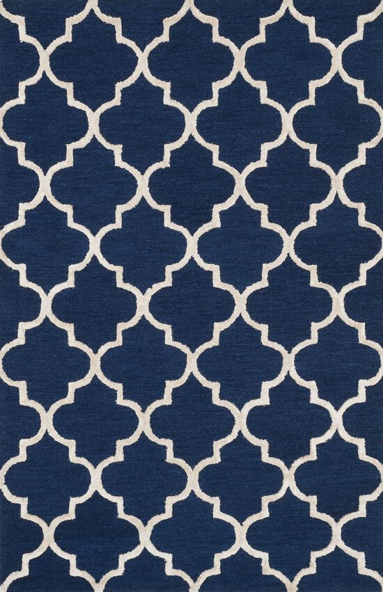 """Transitional 2'-3""""x7'-6"""" Rug in Navy/Silver"""