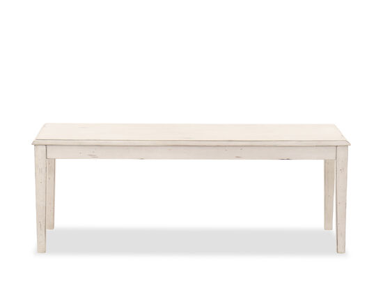 Casual Dining Bench in White