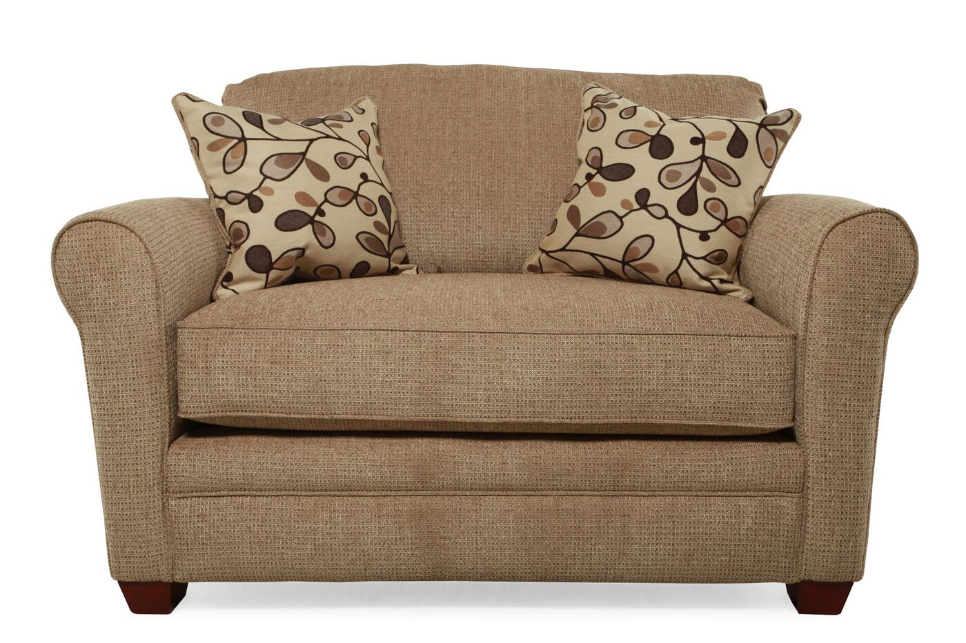 I Rest Casual 56 Quot Sleeper Chair In Brown Mathis Brothers