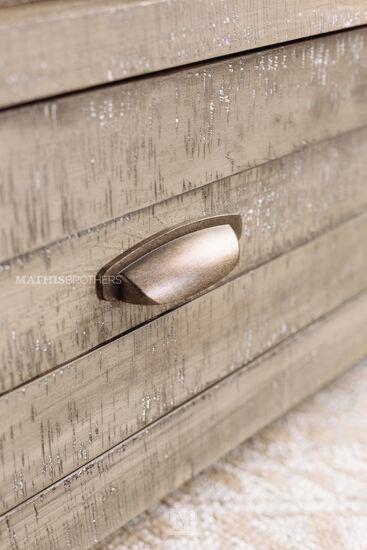Three-Piece Solid Wood Storage Bedroom Set in River Rock