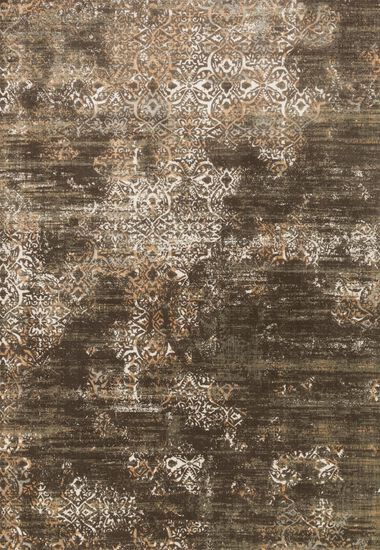 """Transitional 5'-3""""x7'-6"""" Rug in Dk Taupe/Multi"""