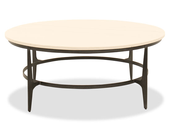 Round Steel Cocktail Table in Black