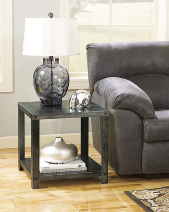 Casual Square End Table in Gray