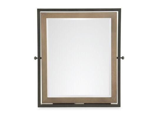 Contemporary Youth Tilt Mirror in Dark Brown
