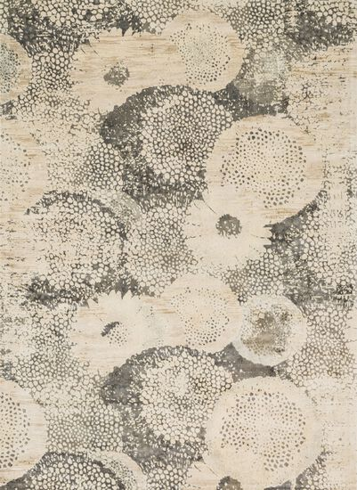 """Transitional 3'-3""""x5'-3"""" Rug in Ivory/Smoke"""