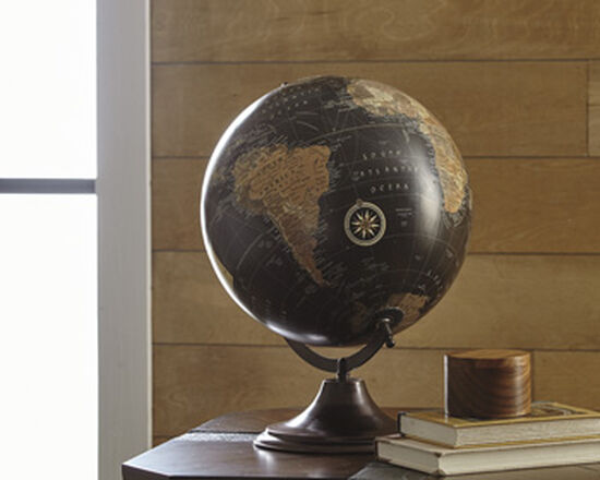 Casual Globe Sculpture in Brown