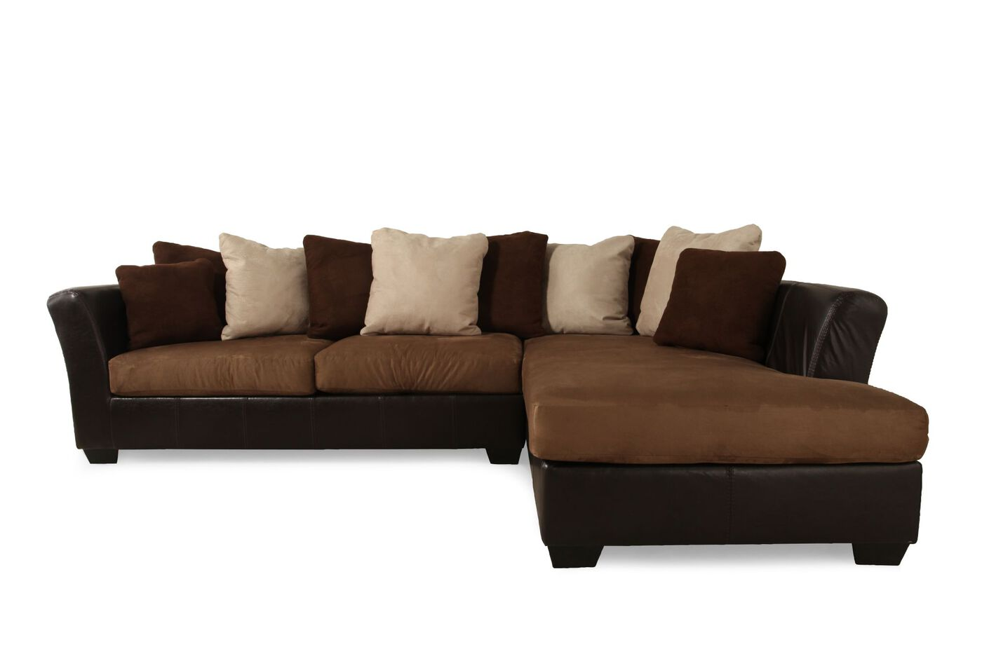 Two Piece Microfiber 125 Quot Sectional In Mocha Mathis