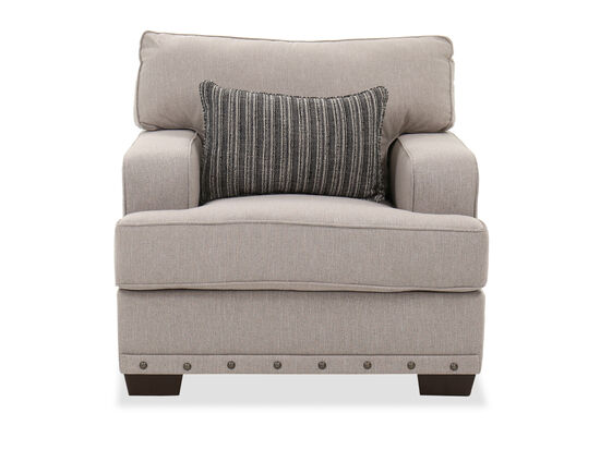 """Contemporary 39"""" Living Room Chair in Linen"""