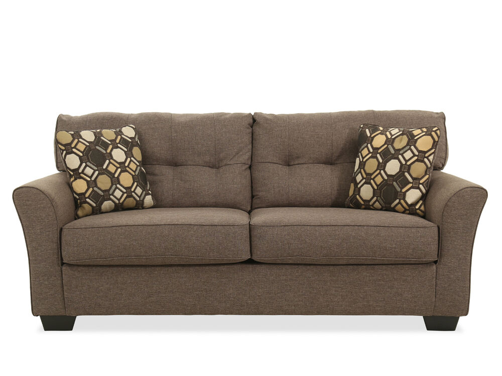 """Contemporary Button-Tufted 78"""" Sofa in Slate   Mathis ..."""